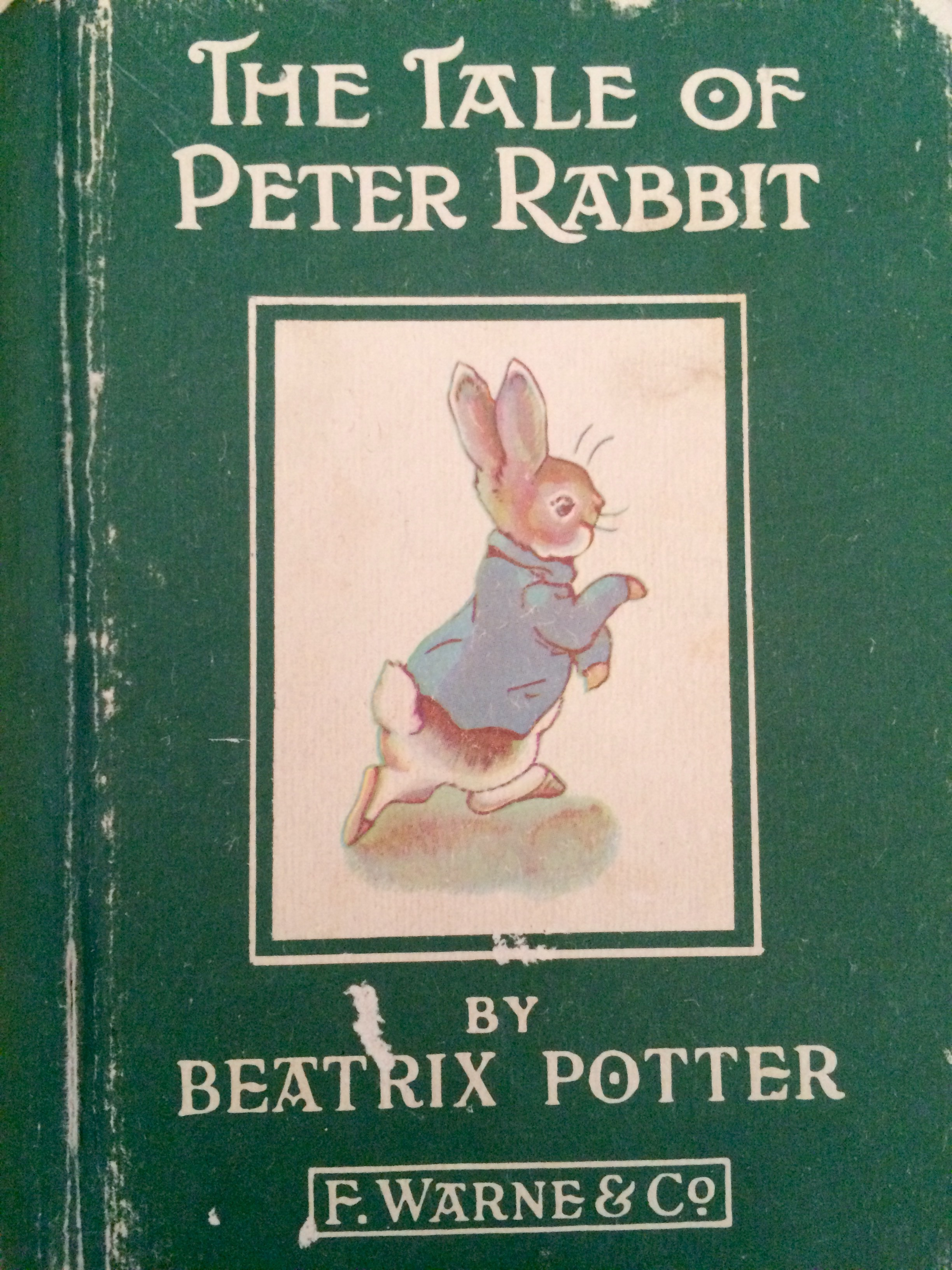 One of two Beatrix Potter books given by my parents to my daughter Lisa, 1970