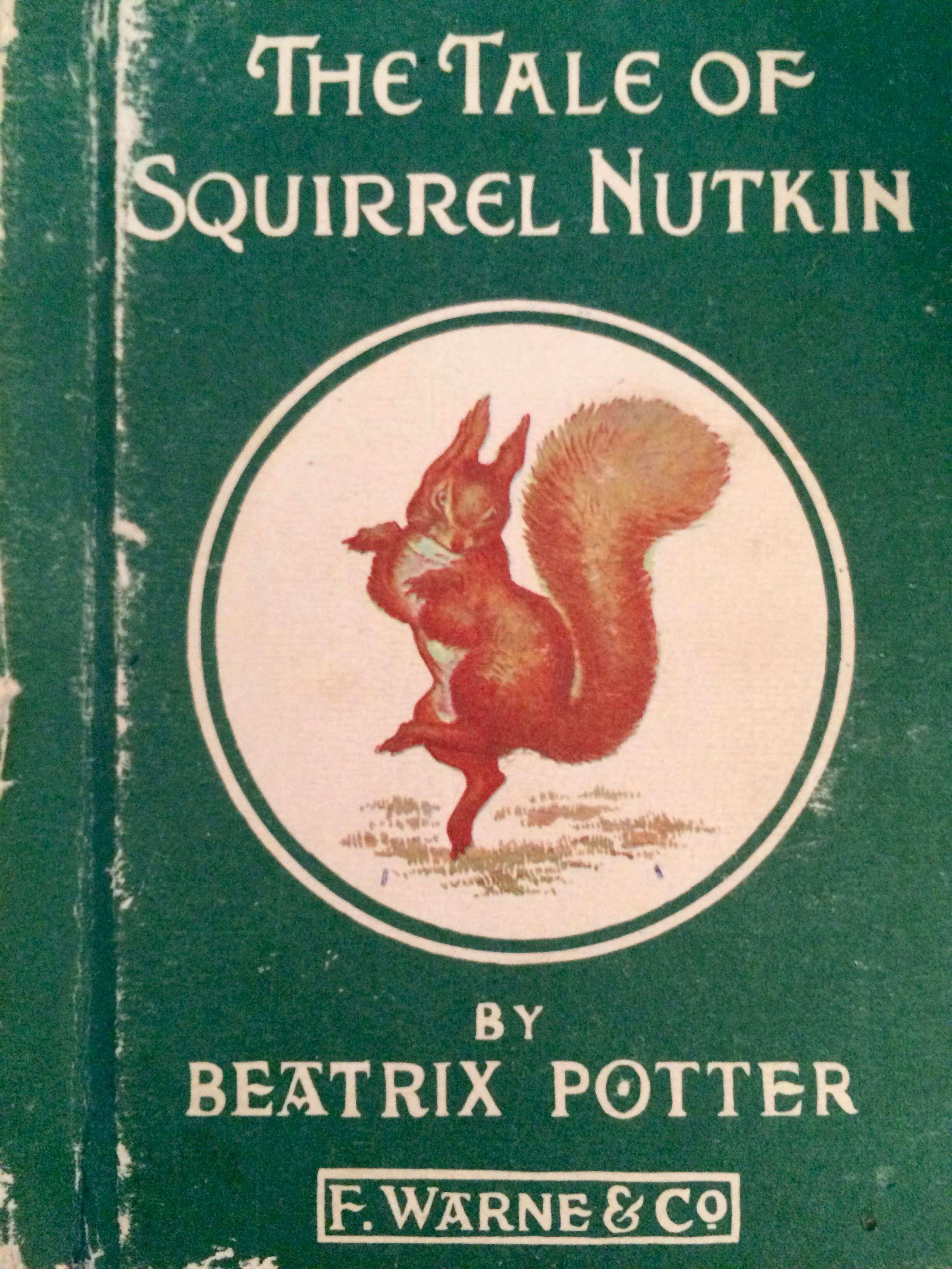 The Tale of Squirrel Nutkin by Beatrix Potter given to Lisa in 1970 by her maternal grandparents