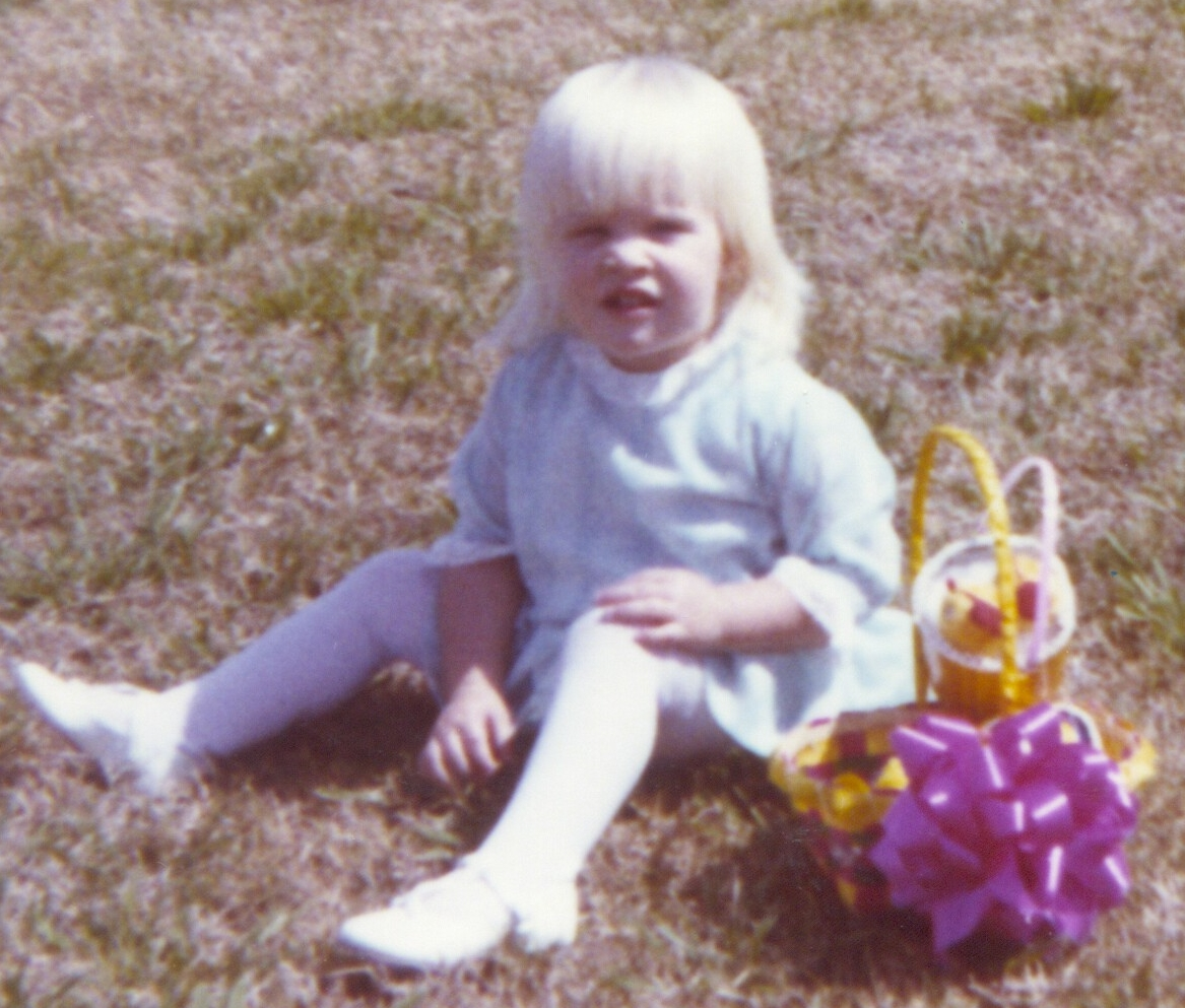 Lisa in her Easter dress ...Ft. Hood, Texas, 1970 ... her father was in the Army