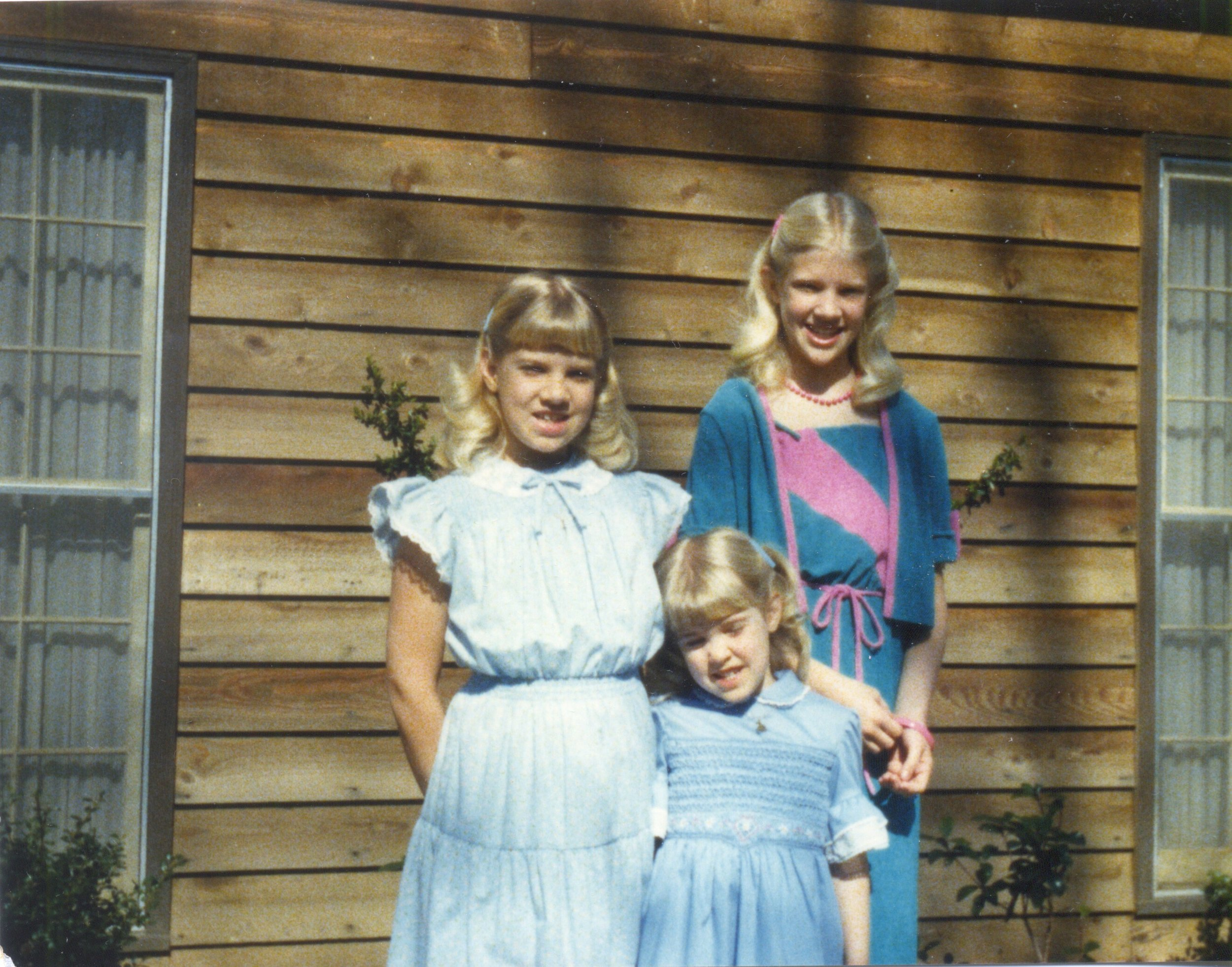 The three daughters in Easter dresses, 1980