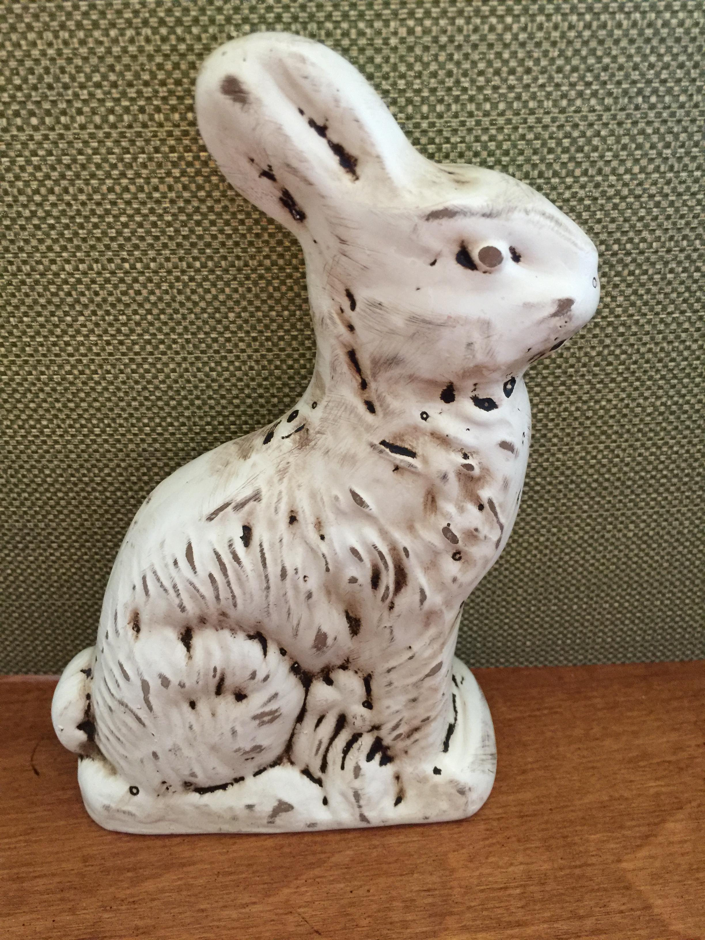A small bunny figurine