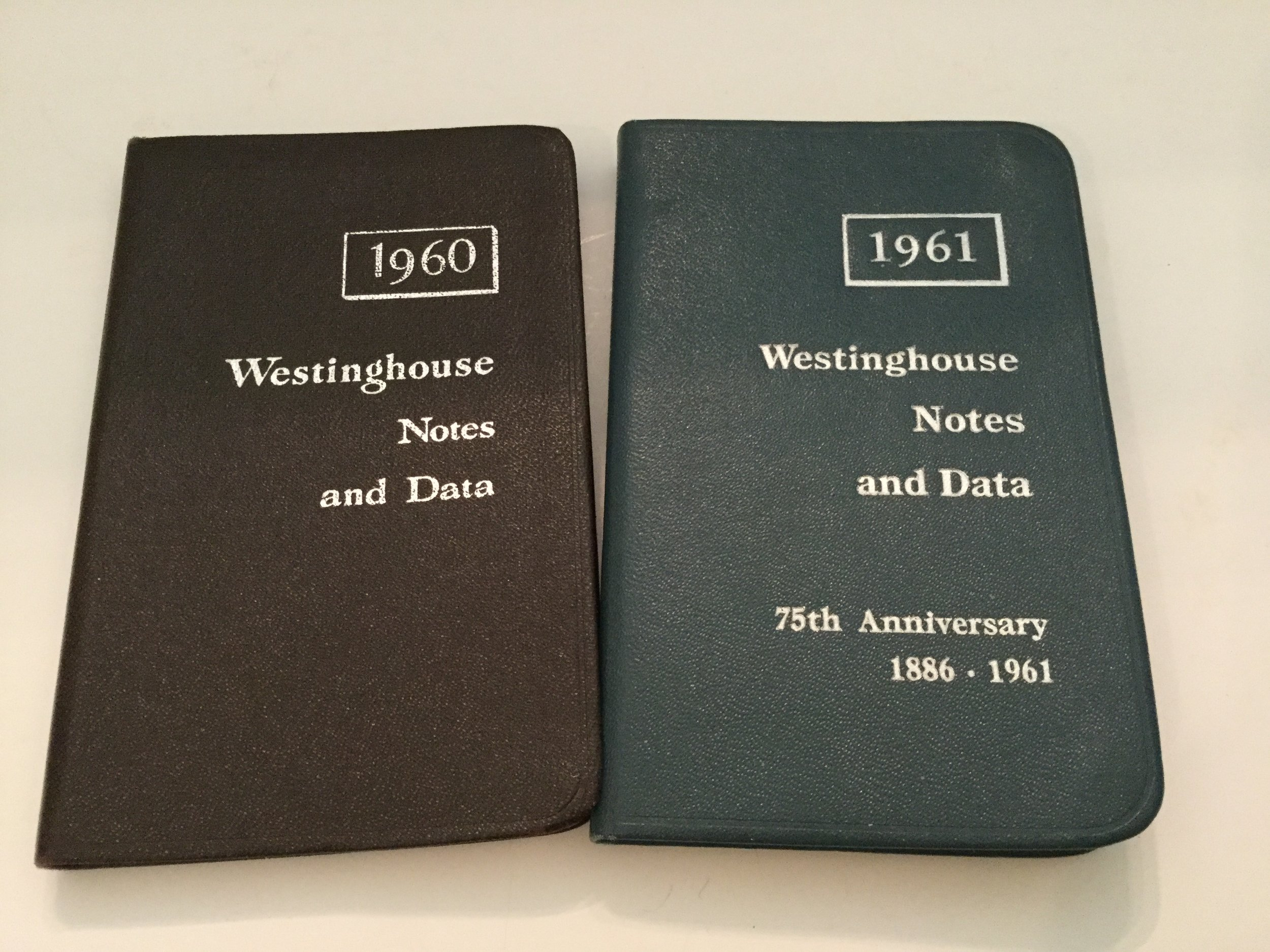 These diaries were full of interesting data, maps and pages for notes and appointments. Every year Dad gave me one or two to share with my high school science and math teachers ... my chemistry teacher especially liked his. I collected these two.