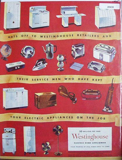 Vintage 1945 Westinghouse magazine ad