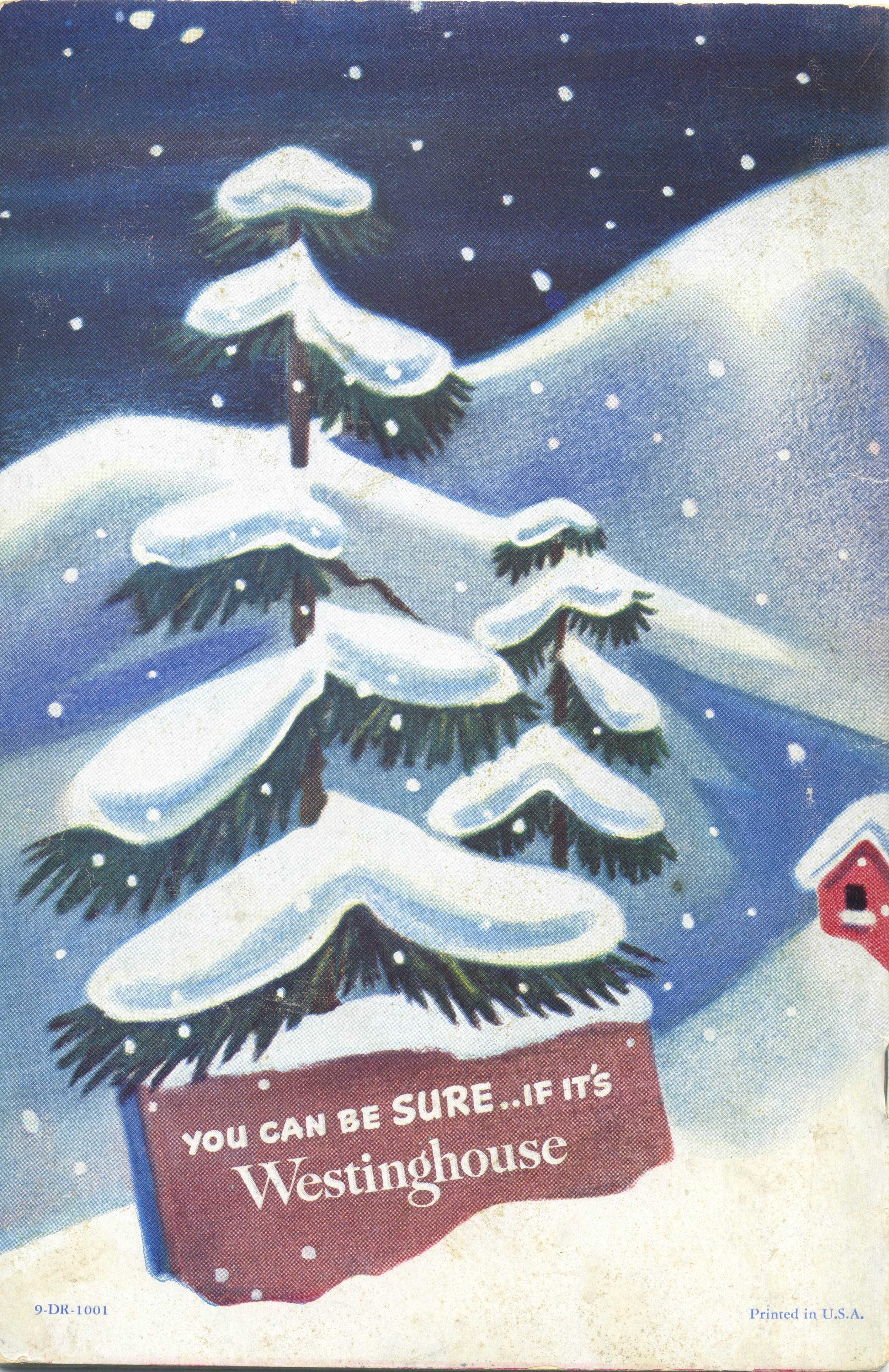 Reverse of the 1948 refrigerator booklet