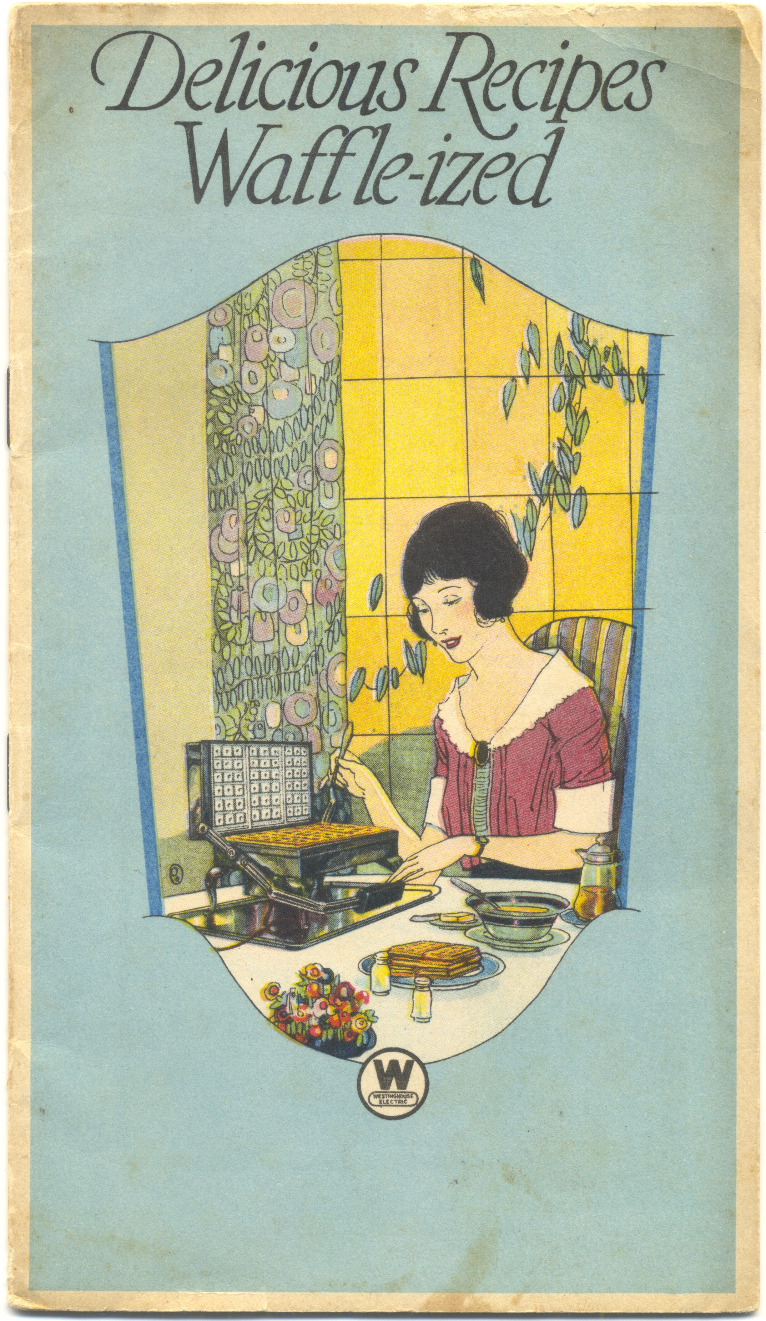 1922 Westinghouse waffle maker booklet ... really great illustration