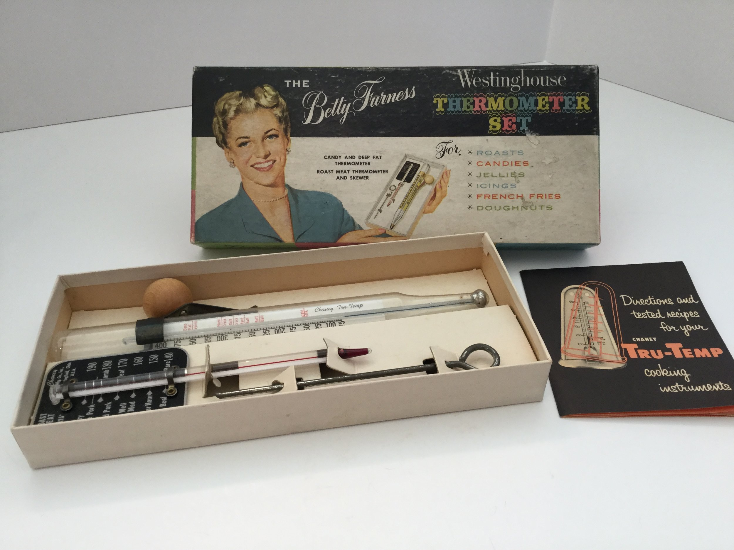 A set of Westinghouse thermometers for the kitchen