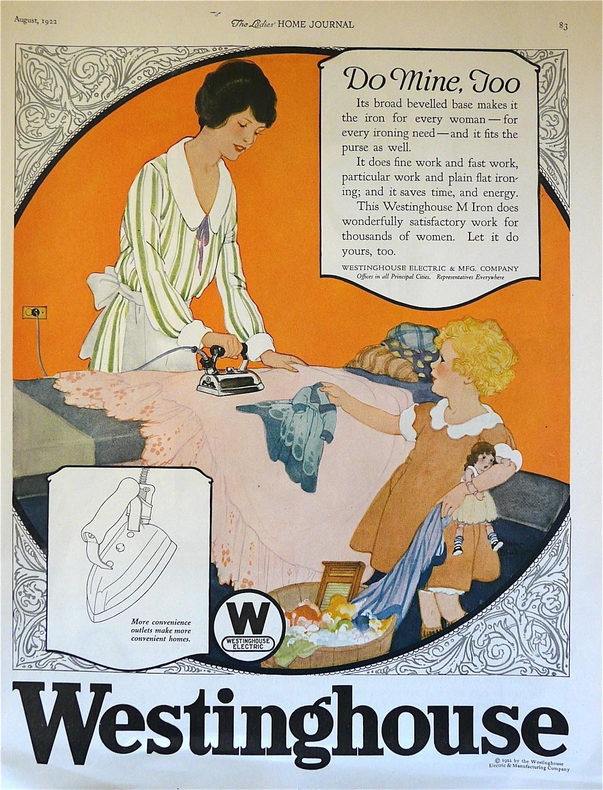 Vintage 1922 Westinghouse Ladies Home Journal magazine ad