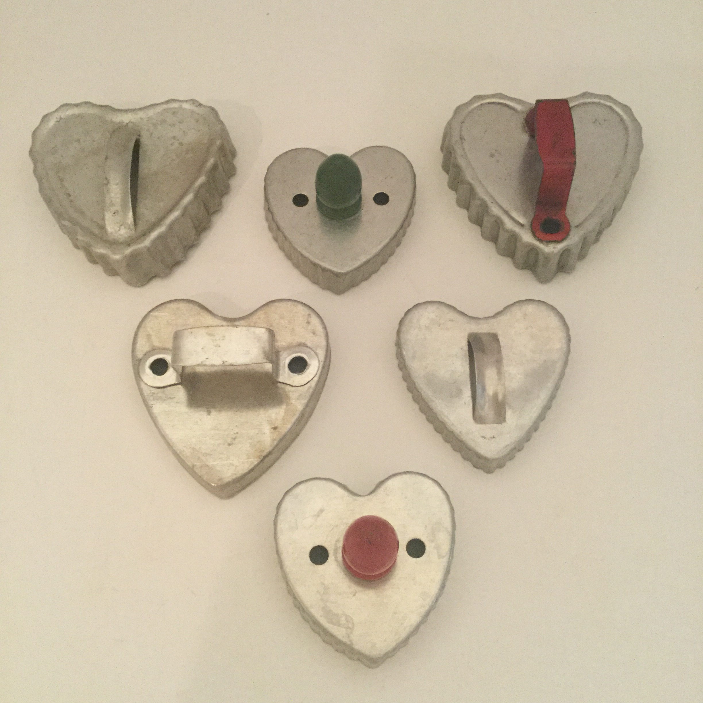 My heart cookie cutters ... also collected one at a time (that's the fun part!)