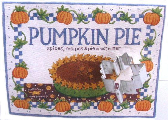 Purple Puma Company Pumpkin Pie spices and pie crust cutter ...1994 Bark and Bradley