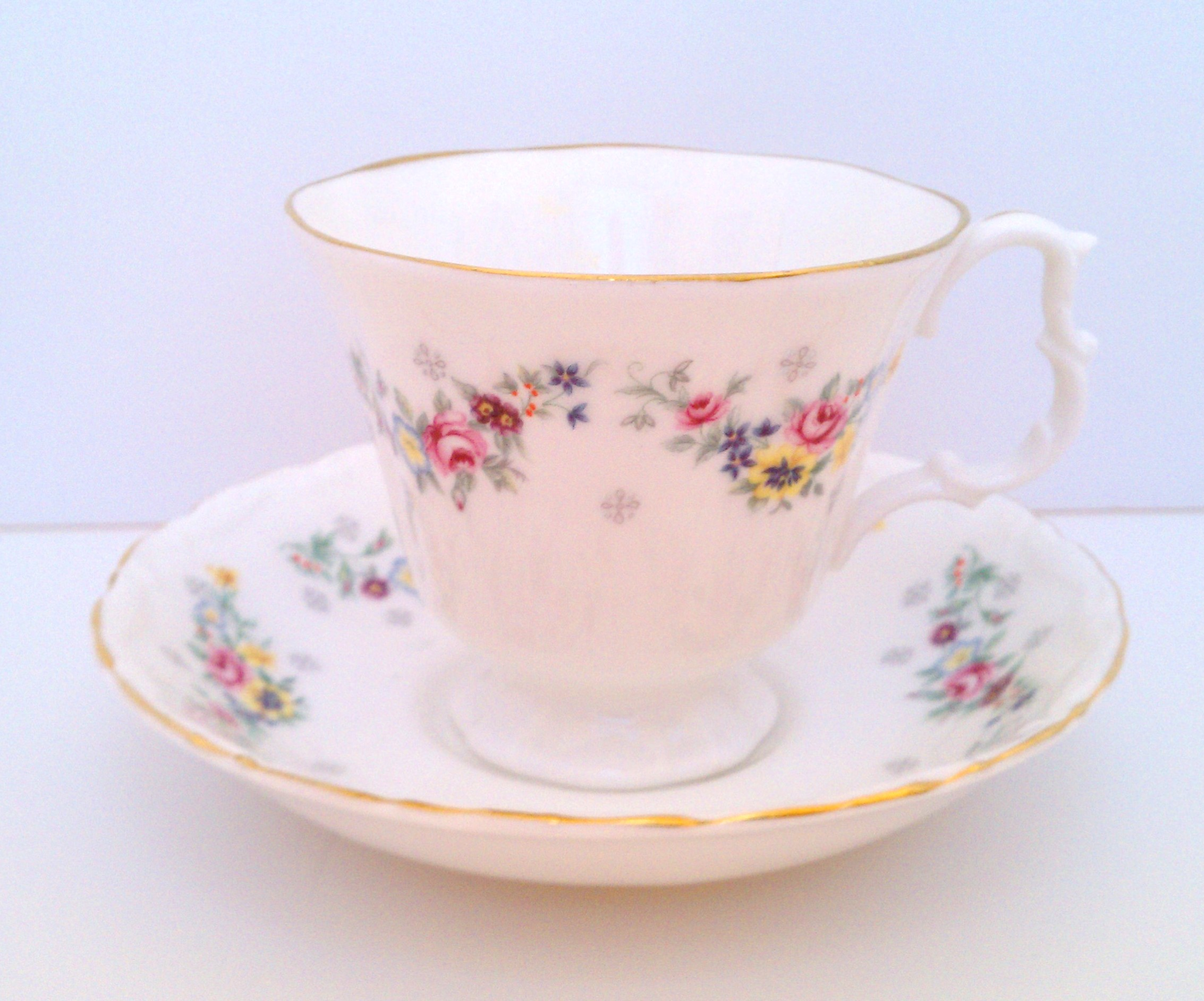 Royal Kent cup and saucer made in Staffordshire, England