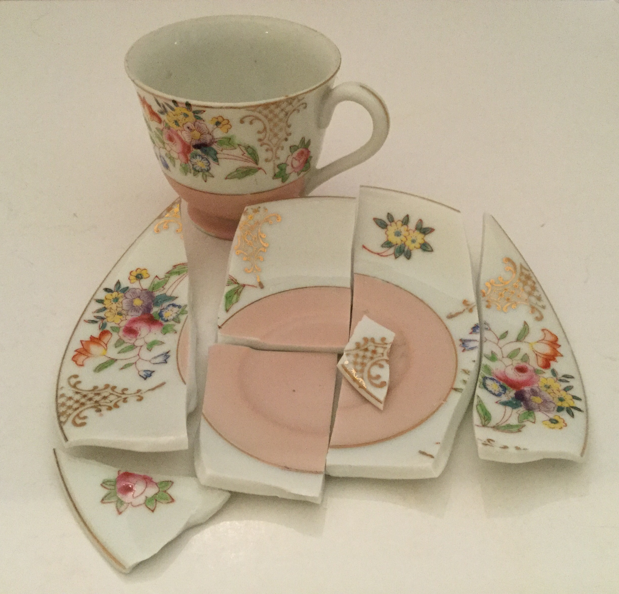 So sad ... broke the saucer to one of my favorites, a Merit China occupied Japan demitasse cups and saucer!