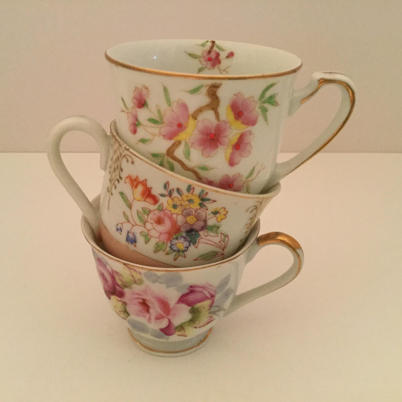Three orphan demitasse cups