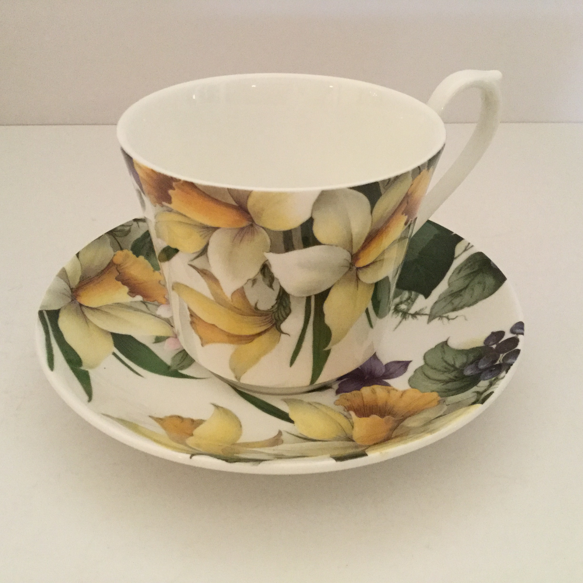 Cup and saucer from the Victoria's Secret Collection
