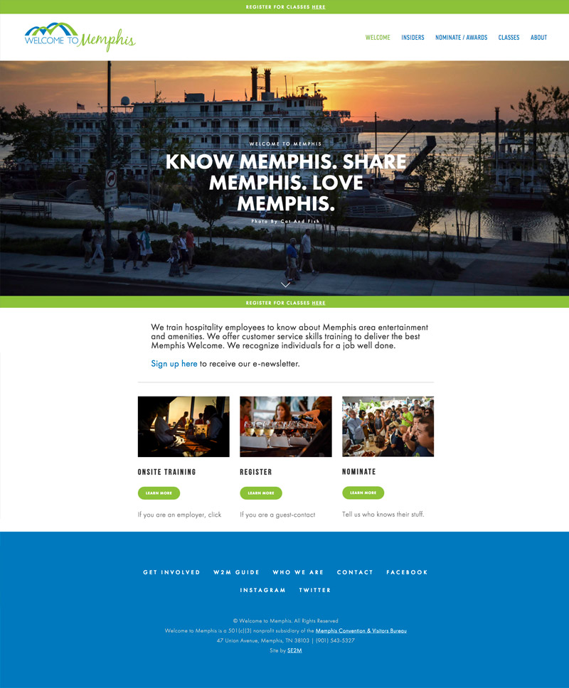 Memphis website Design by Se2m - Welcome to Memphis