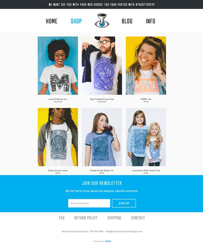 Memphis website Design by Se2m - Trust the Eye