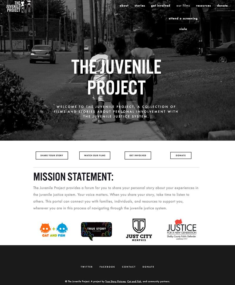 Memphis website Design by Se2m - The Juvenile Project