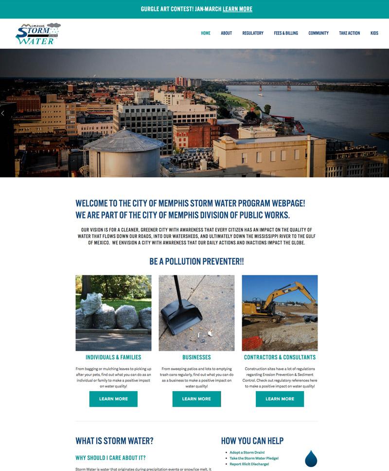 Memphis Storm Water - se2m website design