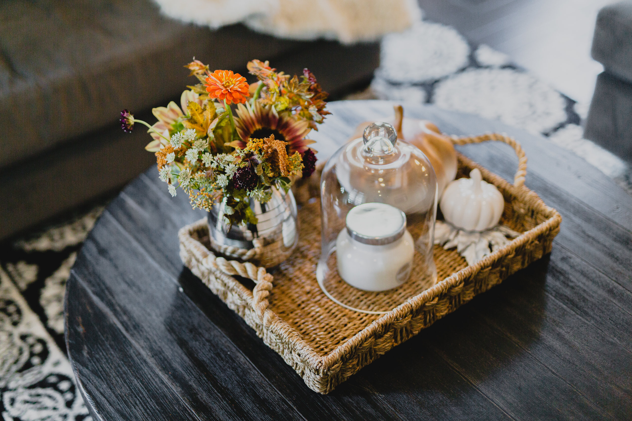 Fall Vignette for Your Coffee Table