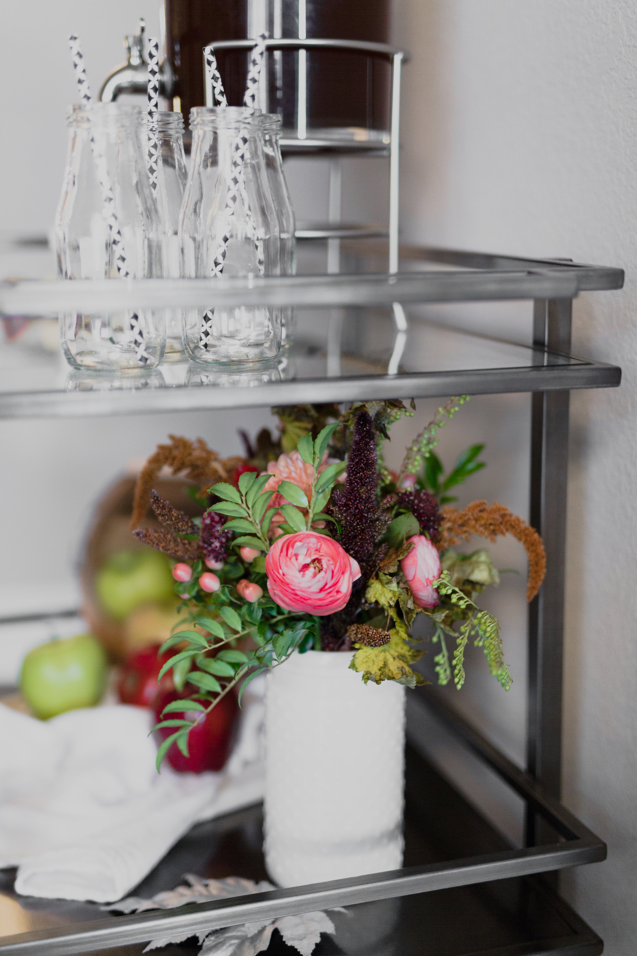Bar Cart Styled for Fall