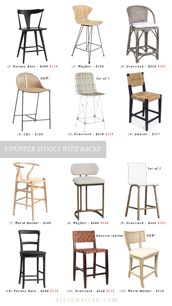 Counter Stools With Backs You Ll Love Alyse Warren