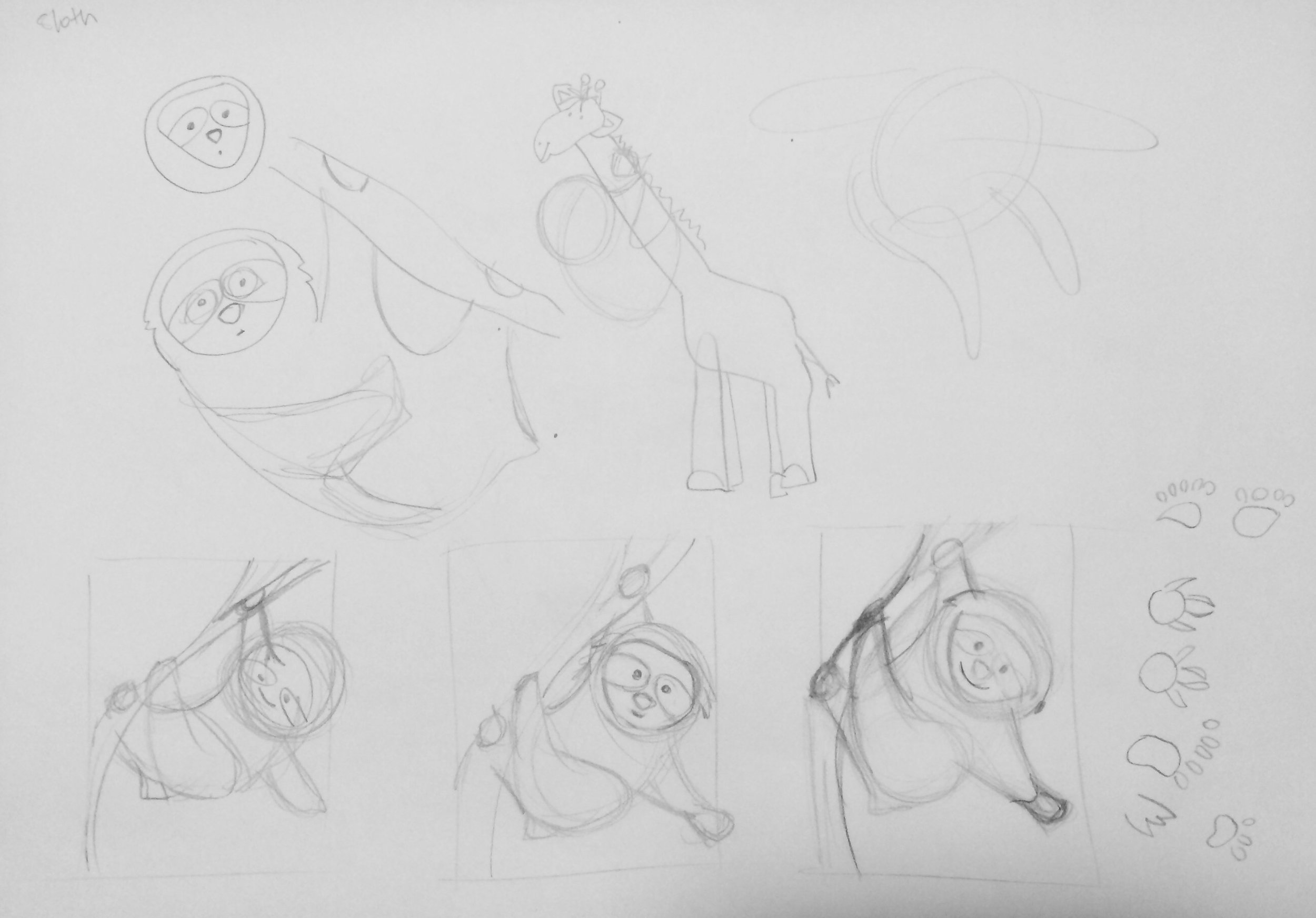 very rough sketches