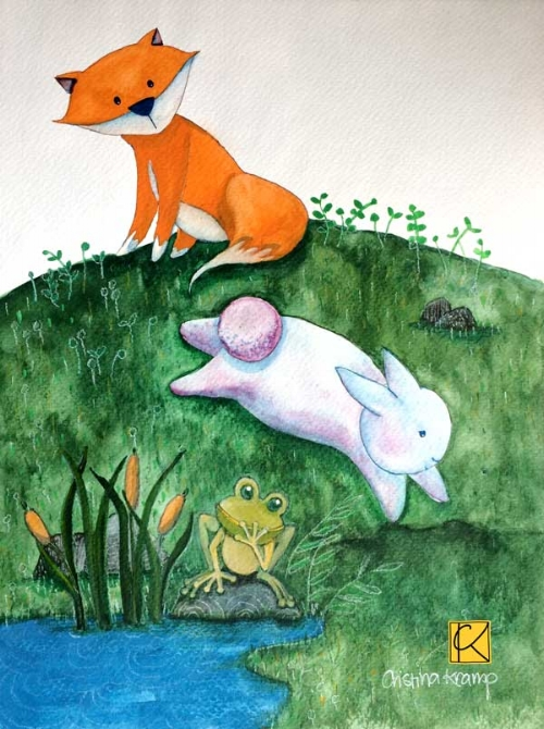 8 x 10 in watercolor & gouache illustration