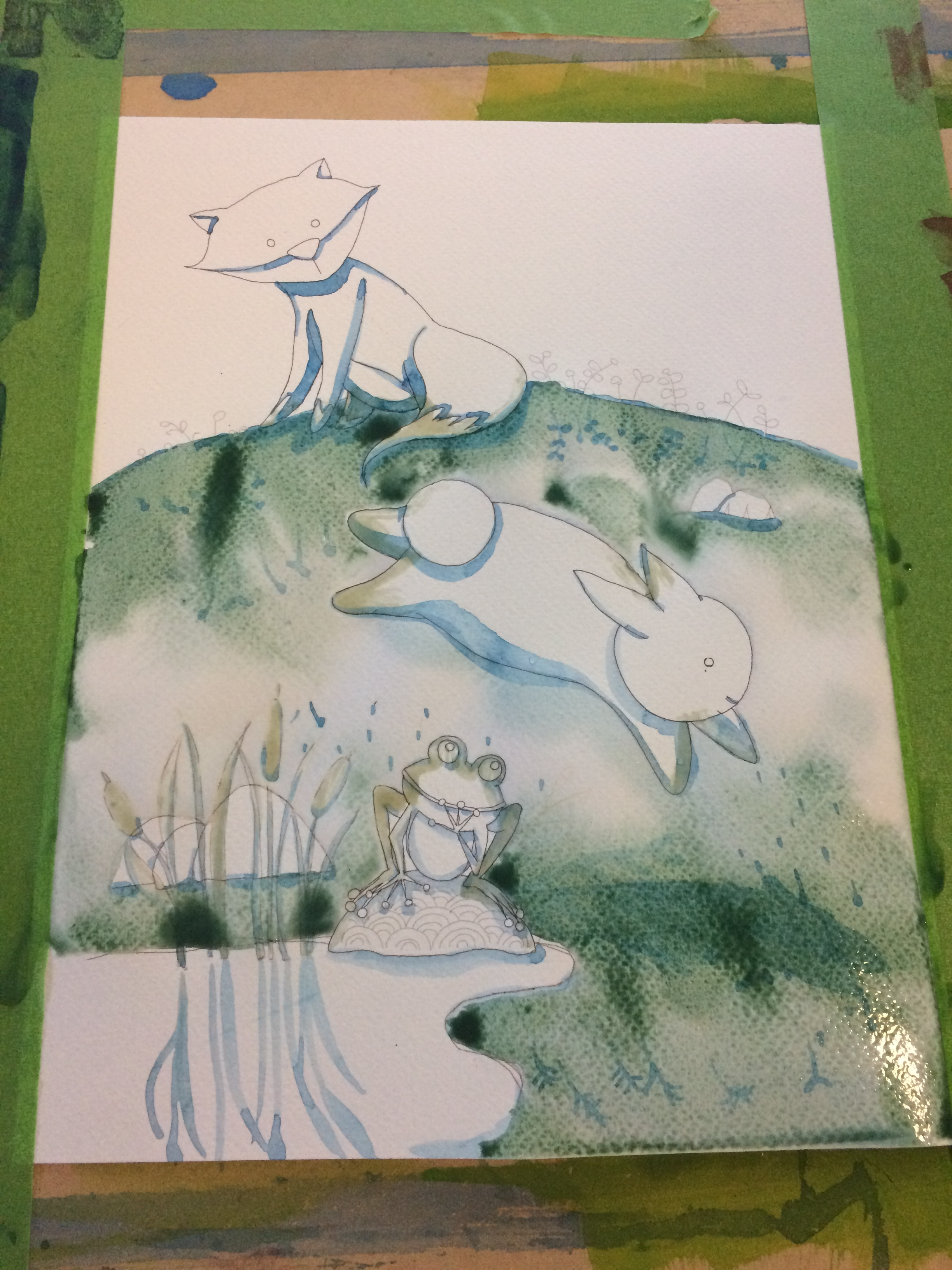 1st layer watercolor background
