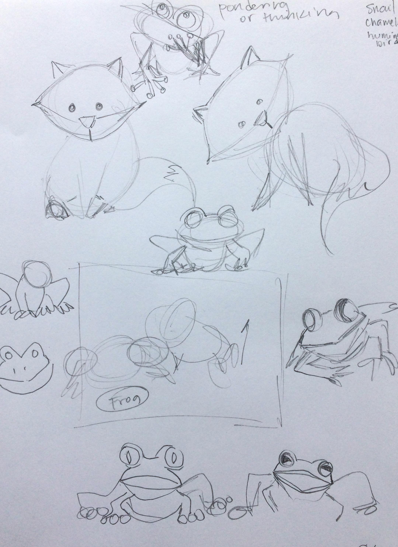 brainstorming rough sketches