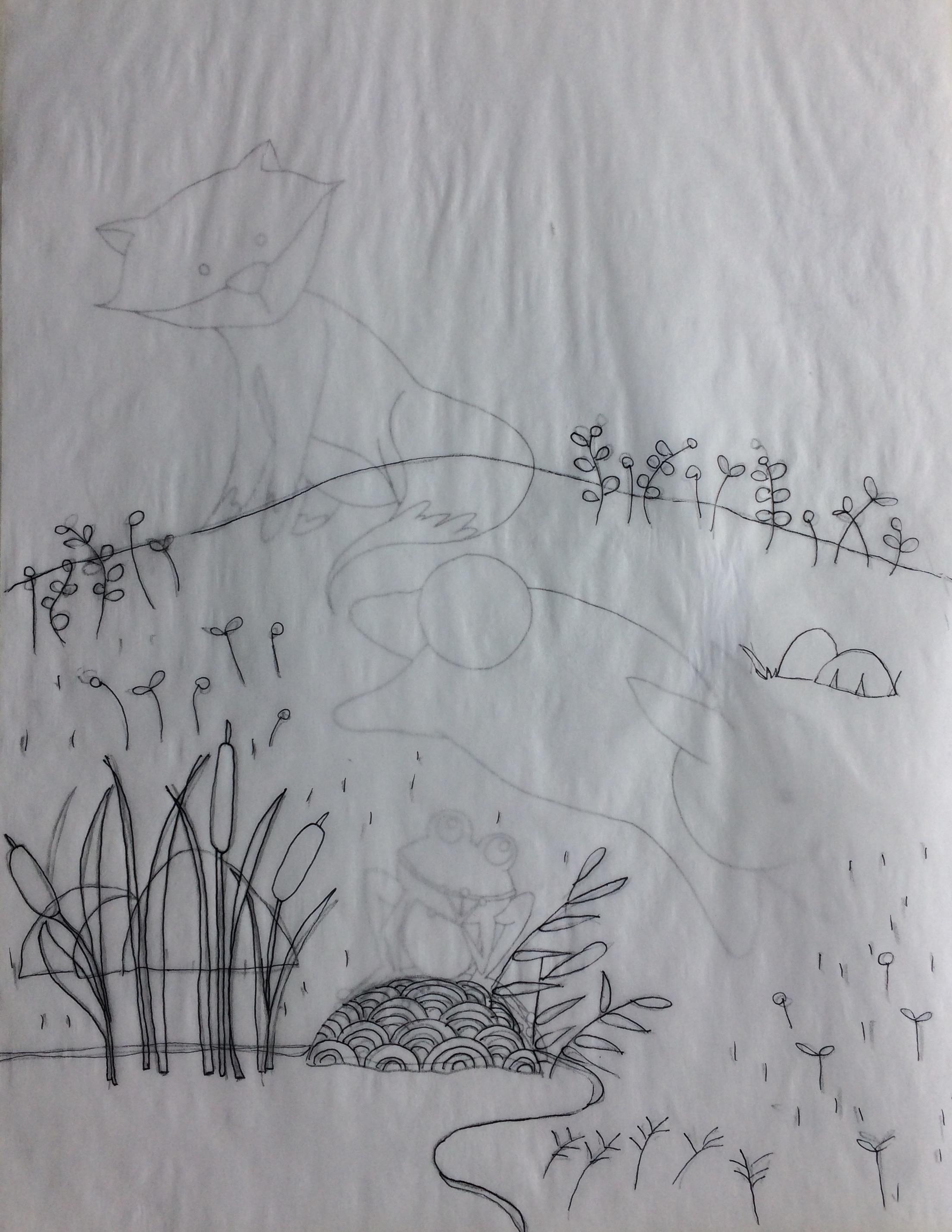 scenery drawn separate