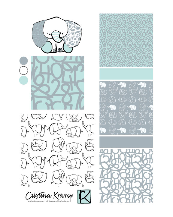 elephant collection patterns for fabric