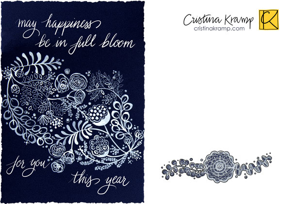 5x7 greeting card design, open to licensing