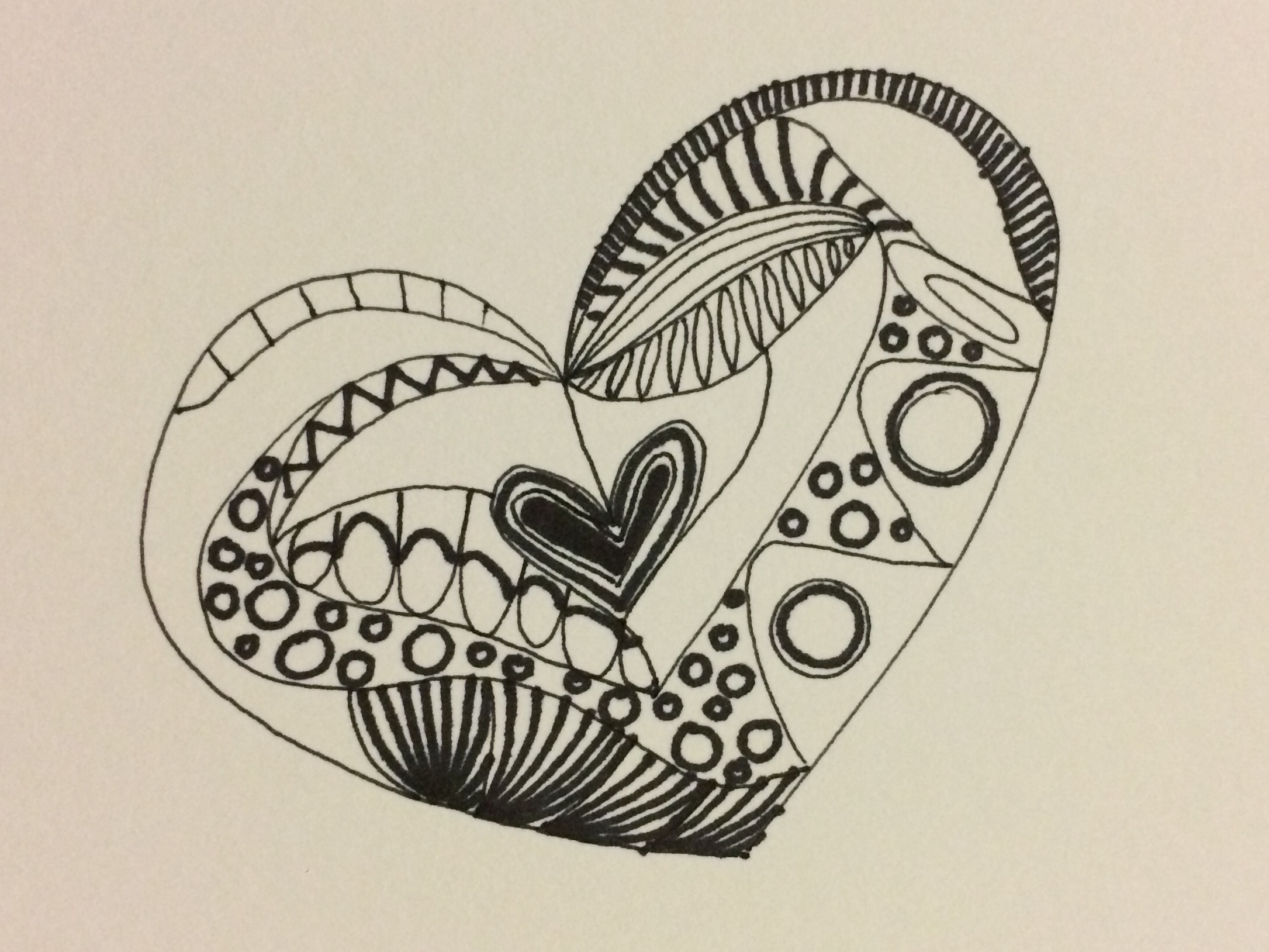 initial sketch, Zentangle based