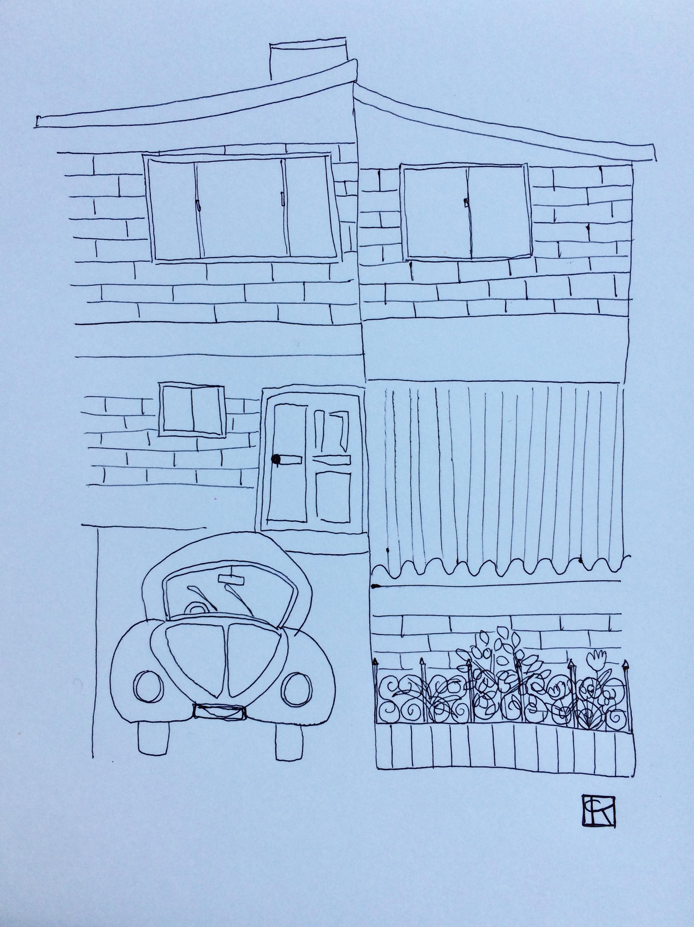 monoline drawing