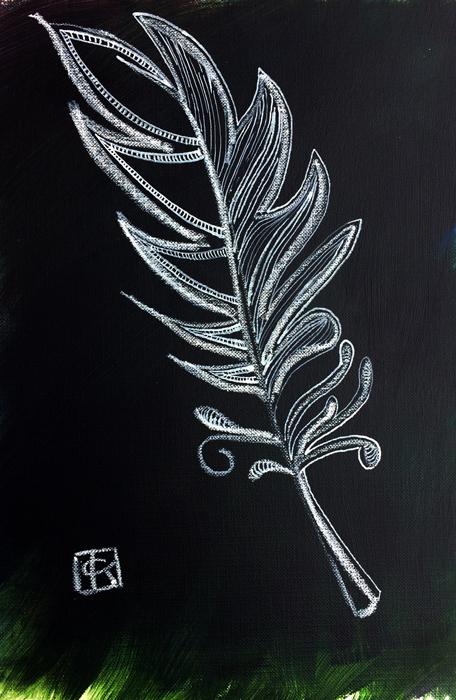 china marker on an acrylic background