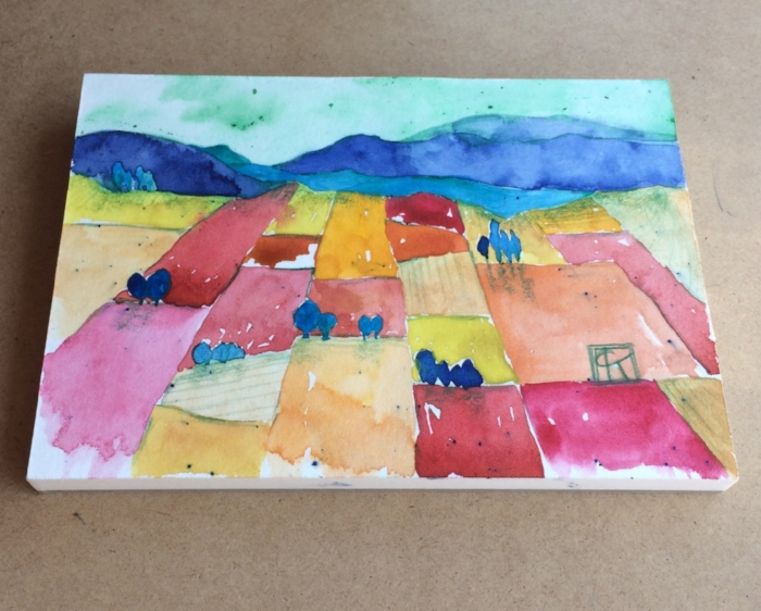 6x4in watercolor on hot pressed paper, Yakima WA