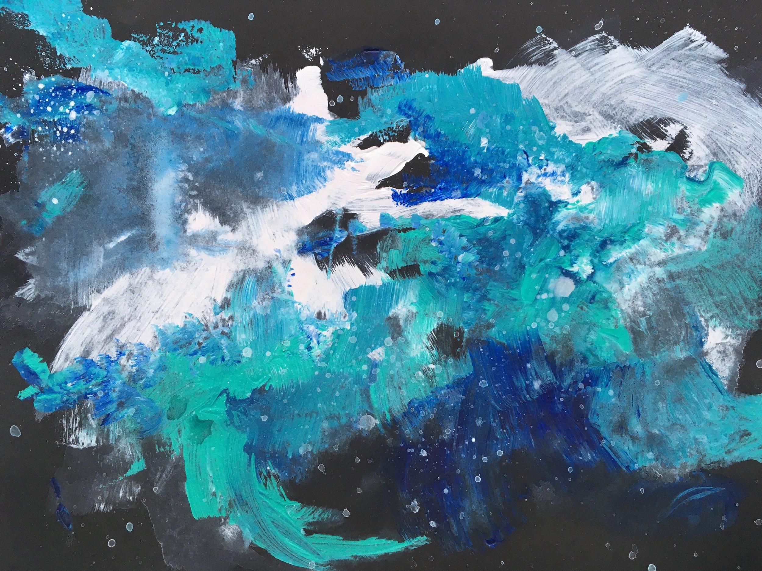 turquoise nebula study