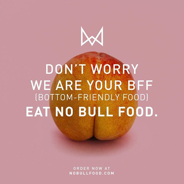 Yup. We've got your back (literally)🍑 Our vegan and gluten free meals are easy on the track. Meaning you can just slide on thru life #happy and #healthy.  We wanted to be your #bff for all your adventures so you don't have to worry about one less thing.  One and Done. #eatnobullfood