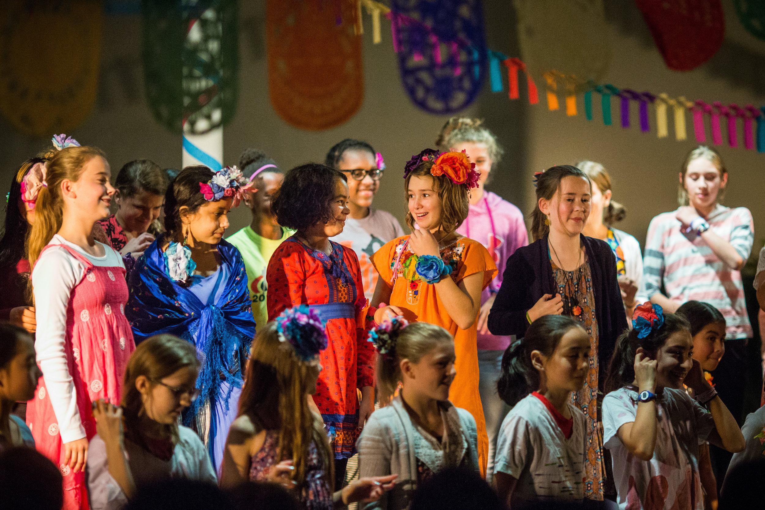 Students perform at 2016/2017 Festival de Otoño, a celebration on Latin culture.
