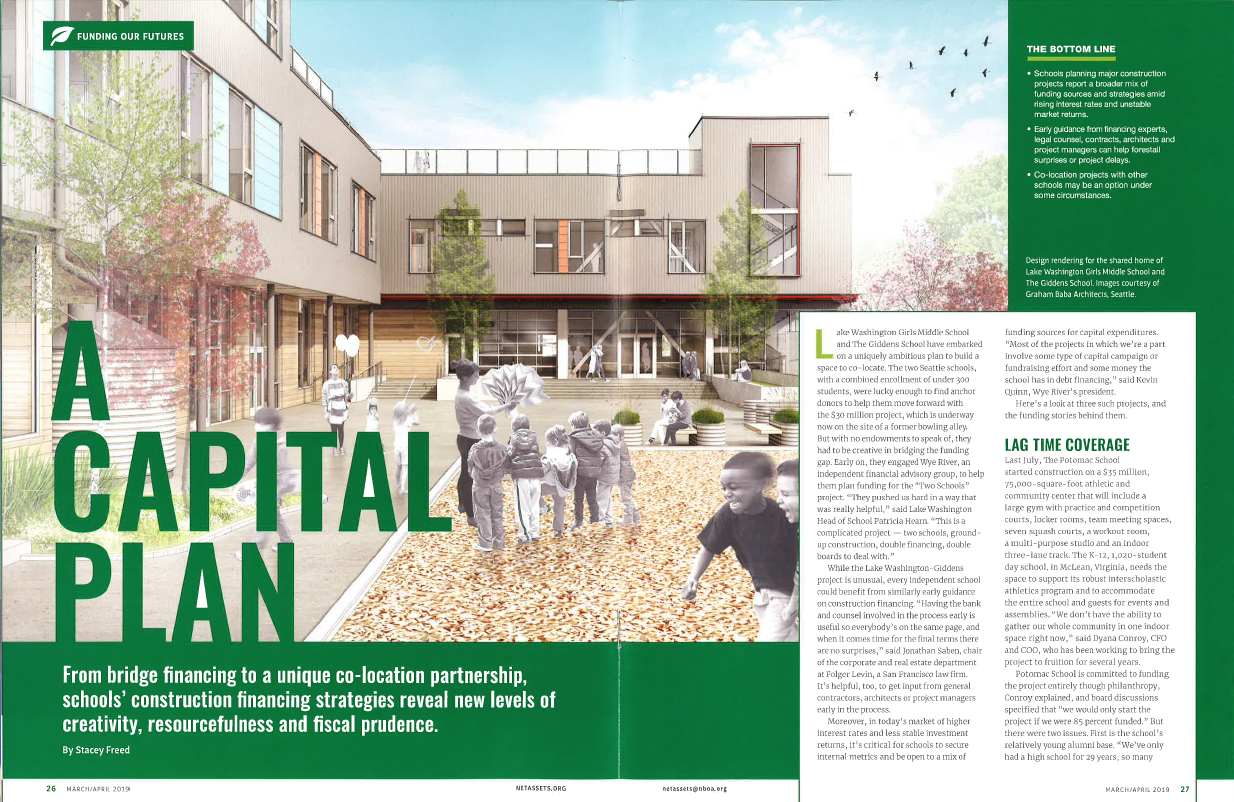 A Capital Plan - By Stacey Freed / Net Assets Magazine / March/April 2019