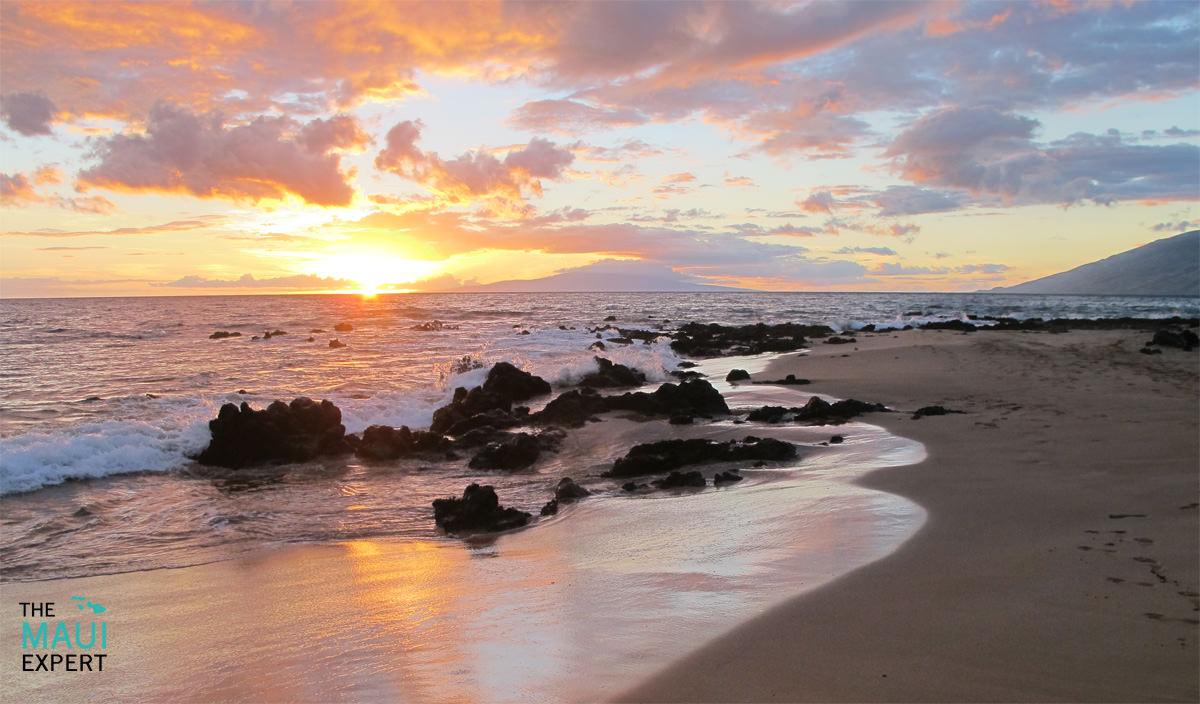 Sunset at Keawakapu Beach Kihei Maui