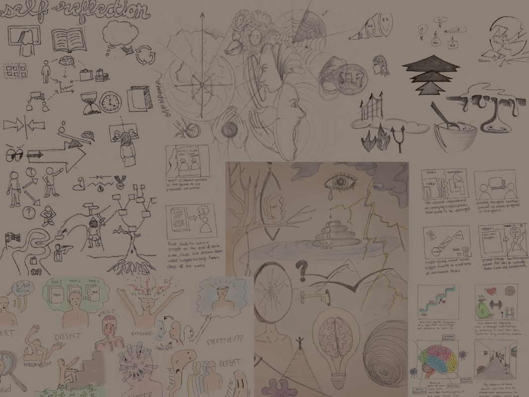 Ideation - We practiced several ideation methods, from thumbnail sketching and group brainstorming to mash-ups.