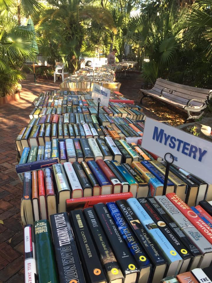 Book Sale at the Library's Palm Garden.