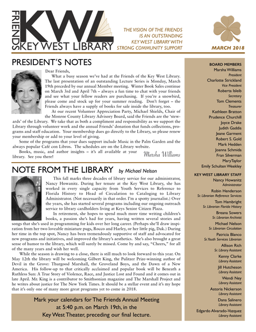Click here to view download the latest newsletter.