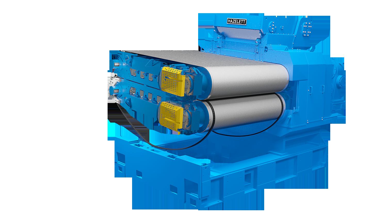 Hazelett twin-belt caster for copper anode - core machine