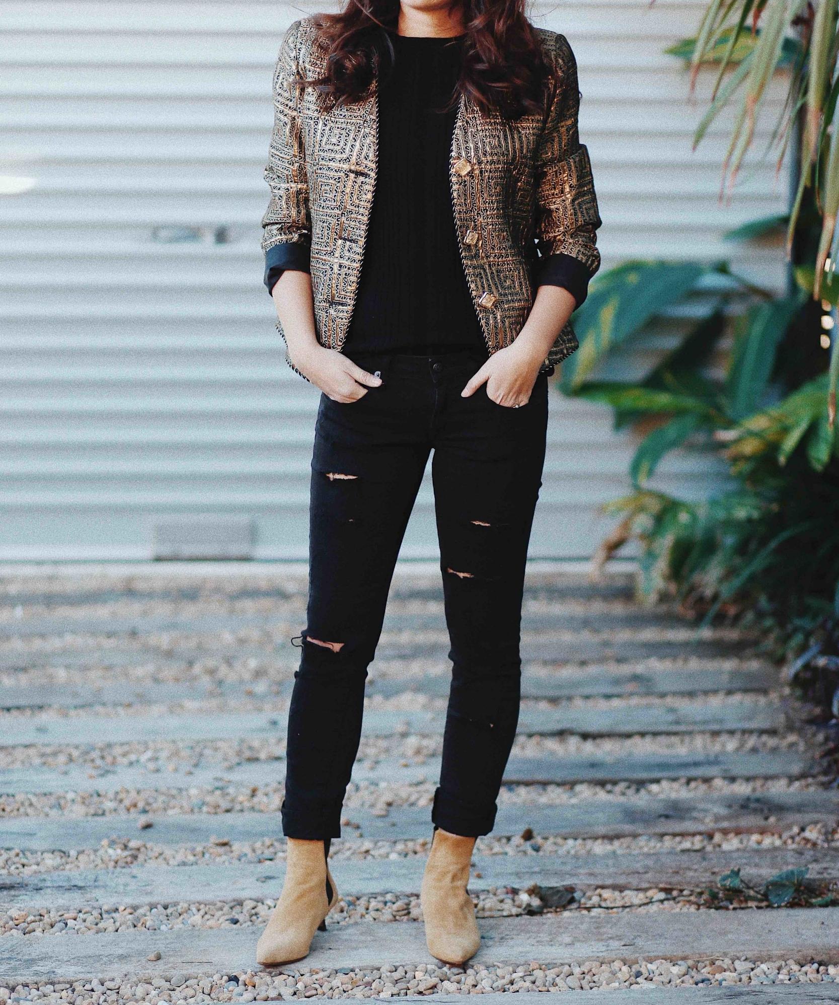 sydney vintage designer gold jacket
