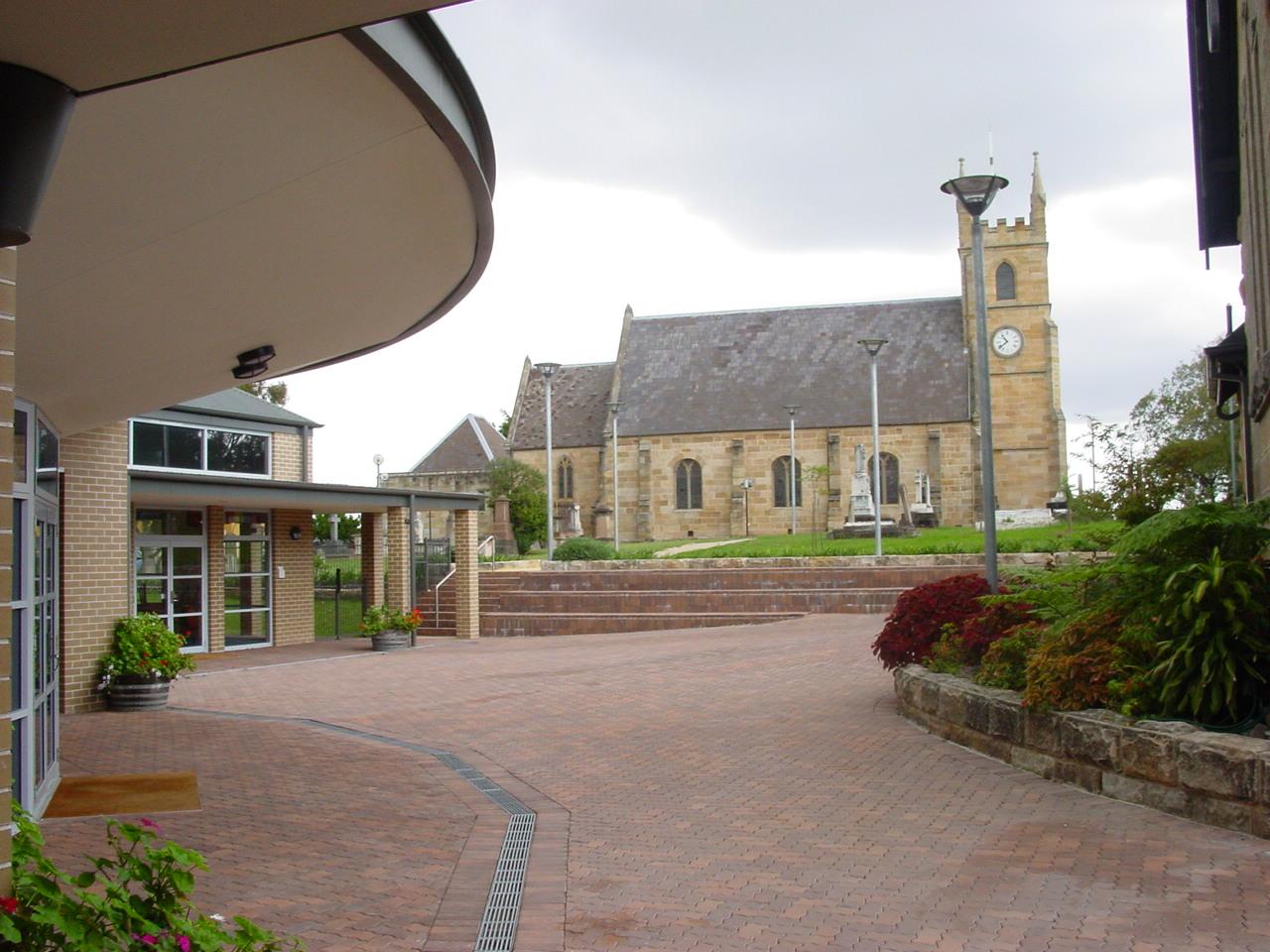 St Anne'sView from Courtyard to original Church.JPG