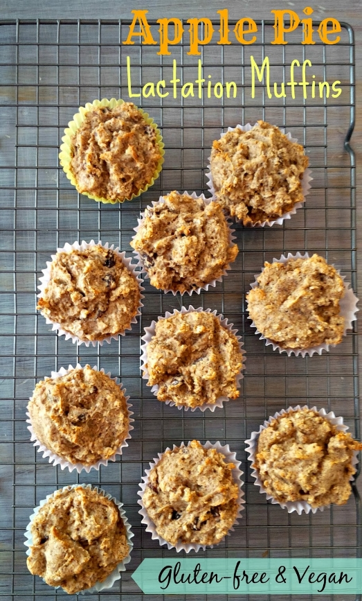 Vegan Apple Pie Lactation Muffins
