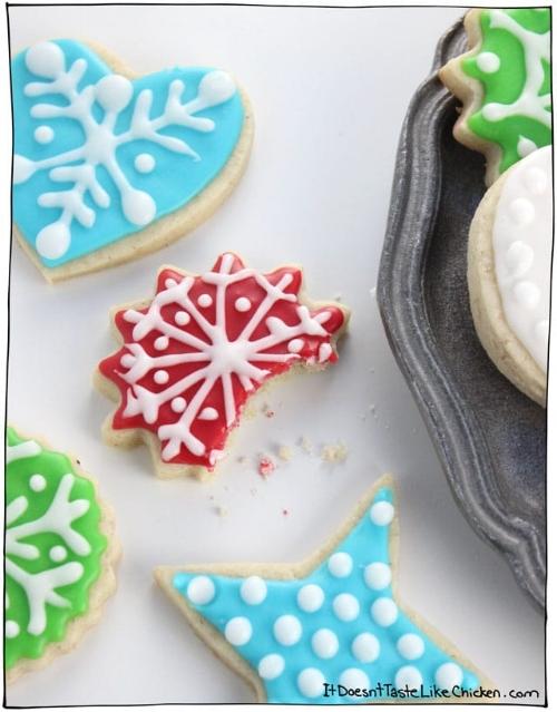 Perfect Vegan Sugar Cookies   From:  It Doesn't Taste Like Chicken