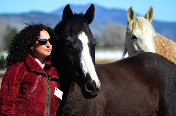 Doing Team Building exercises with Shawna English at Colorado Horse Rescue. April 3, 2016 —  Colorado Horse Rescue, Lead Change