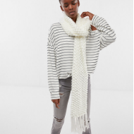 White Crochet Scarf